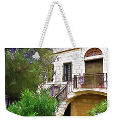 Weekender Tote Bag featuring the photograph Do-00490 Balcony Of Old House by Digital Oil