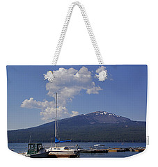 Weekender Tote Bag featuring the photograph Docks At Diamond Lake by Mick Anderson