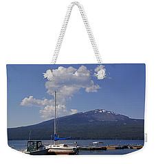 Docks At Diamond Lake Weekender Tote Bag by Mick Anderson