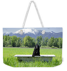 Dog In Bathtub Weekender Tote Bag