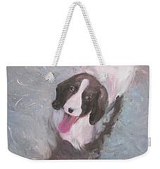 Dog In River Weekender Tote Bag