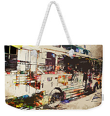 Weekender Tote Bag featuring the photograph Double Decker Bus by Phil Perkins