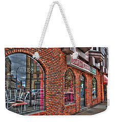 Weekender Tote Bag featuring the photograph Dough Bois Pizza by Michael Frank Jr