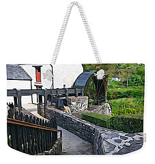 Weekender Tote Bag featuring the photograph Down To The Mill by Charlie and Norma Brock