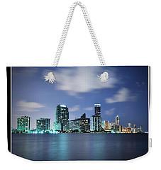 Downtown Miami At Night Weekender Tote Bag by Carsten Reisinger