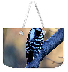 Weekender Tote Bag featuring the photograph Downy Woodpecker by Elizabeth Winter
