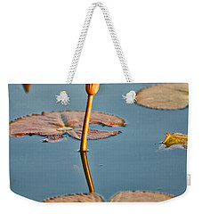 Weekender Tote Bag featuring the photograph Dragonfly And Lotus by Luciano Mortula