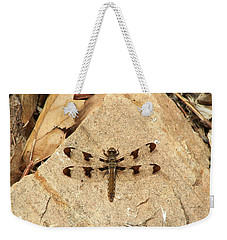 Weekender Tote Bag featuring the photograph Dragonfly At Rest by Deniece Platt