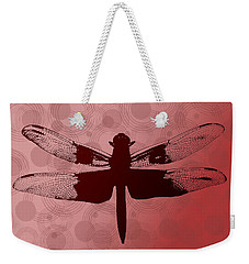 Weekender Tote Bag featuring the photograph Dragonfly by Lauren Radke