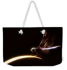 Dragonfly On Golden Blade Weekender Tote Bag by Lynne Jenkins