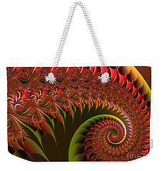 Weekender Tote Bag featuring the digital art Dragon's Tail by Mariella Wassing