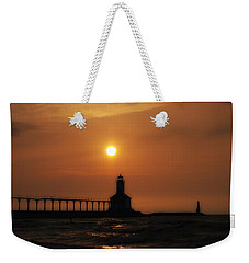 Dreamy Sunset At The Lighthouse Weekender Tote Bag