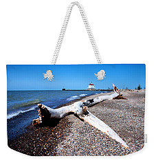 Driftwood At Erie Weekender Tote Bag by Michelle Joseph-Long