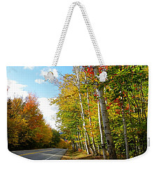 Driving Though The Birches Weekender Tote Bag