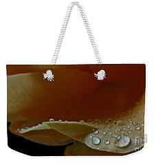 Weekender Tote Bag featuring the photograph Drops Of Light by Debbie Portwood