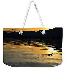 Duck Swimming Weekender Tote Bag