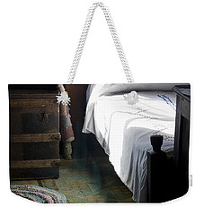 Weekender Tote Bag featuring the photograph Dudley Farmhouse Interior No. 1 by Lynn Palmer