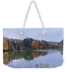 Weekender Tote Bag featuring the photograph Durand Lake by William Norton