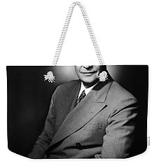 Weekender Tote Bag featuring the photograph Dwight Eisenhower - President Of The United States Of America by International  Images