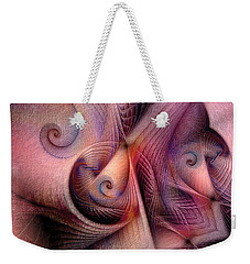Weekender Tote Bag featuring the digital art Early Influences by Casey Kotas