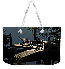 Early Morning At The Lake Weekender Tote Bag by Cindy Manero