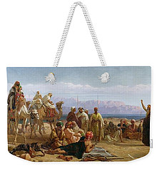 Early Morning In The Wilderness Of Shur Weekender Tote Bag by Frederick Goodall