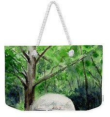 Weekender Tote Bag featuring the painting Early Summer At The Geddes Farm 1 --ann Arbor  Michigan by Yoshiko Mishina