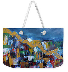 Weekender Tote Bag featuring the painting Economic Meltdown by Judith Rhue