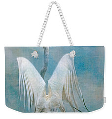 Egret Preparing To Launch Weekender Tote Bag