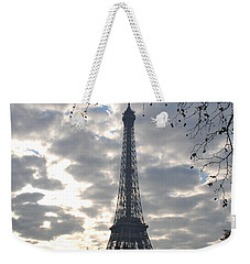 Weekender Tote Bag featuring the photograph Eiffel In The Morning by Eric Tressler