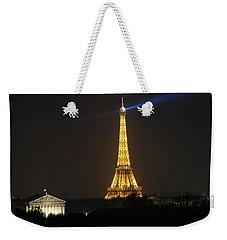 Eiffel Tower At Night Weekender Tote Bag
