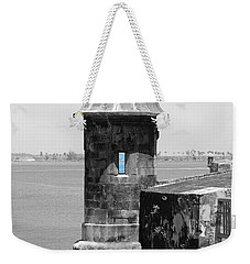 El Morro Sentry Tower Color Splash Black And White San Juan Puerto Rico Weekender Tote Bag