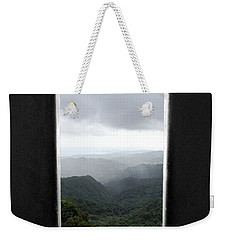 Weekender Tote Bag featuring the photograph El Yunque Cloudburst Color Splash Black And White by Shawn O'Brien