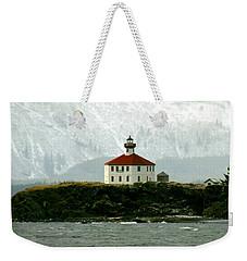 Eldred Rock Lighthouse Weekender Tote Bag by Myrna Bradshaw