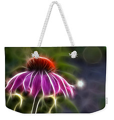 Electrified Coneflower Weekender Tote Bag by Lynne Jenkins