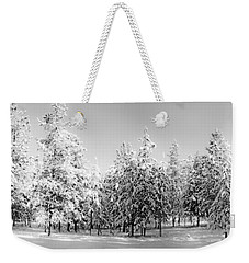Weekender Tote Bag featuring the photograph Elegant Wonderland by Janie Johnson