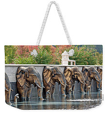 Elephants Of The Mandir Weekender Tote Bag