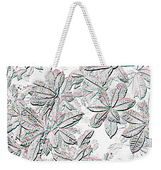 Weekender Tote Bag featuring the photograph Embossed Crotons by Tom Wurl