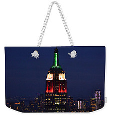 Weekender Tote Bag featuring the photograph Empire State Building1 by Zawhaus Photography