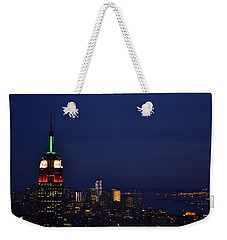 Weekender Tote Bag featuring the photograph Empire State Building3 by Zawhaus Photography