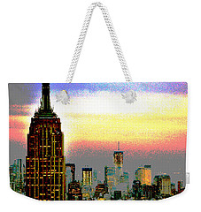 Weekender Tote Bag featuring the photograph Empire State Building4 by Zawhaus Photography