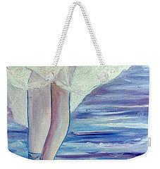Weekender Tote Bag featuring the painting En Pointe by Julie Brugh Riffey