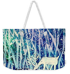 Enchanted Winter Forest Weekender Tote Bag by Shana Rowe Jackson
