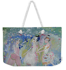 English Country Garden Ballet Weekender Tote Bag by Judith Desrosiers