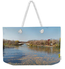 Weekender Tote Bag featuring the photograph Erie Canal Panorama by William Norton