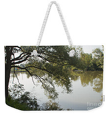 Weekender Tote Bag featuring the photograph Erie Canal Turning Basin by William Norton