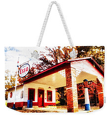 Esso Filling Station Weekender Tote Bag by Lynne Jenkins