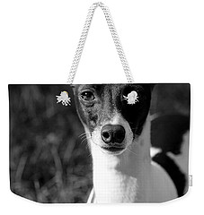 Ethan In Black And White Weekender Tote Bag