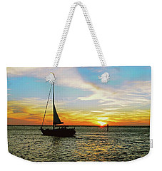 Evening Sailing Weekender Tote Bag