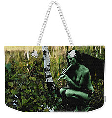 Weekender Tote Bag featuring the painting Evil Fairy by Tbone Oliver